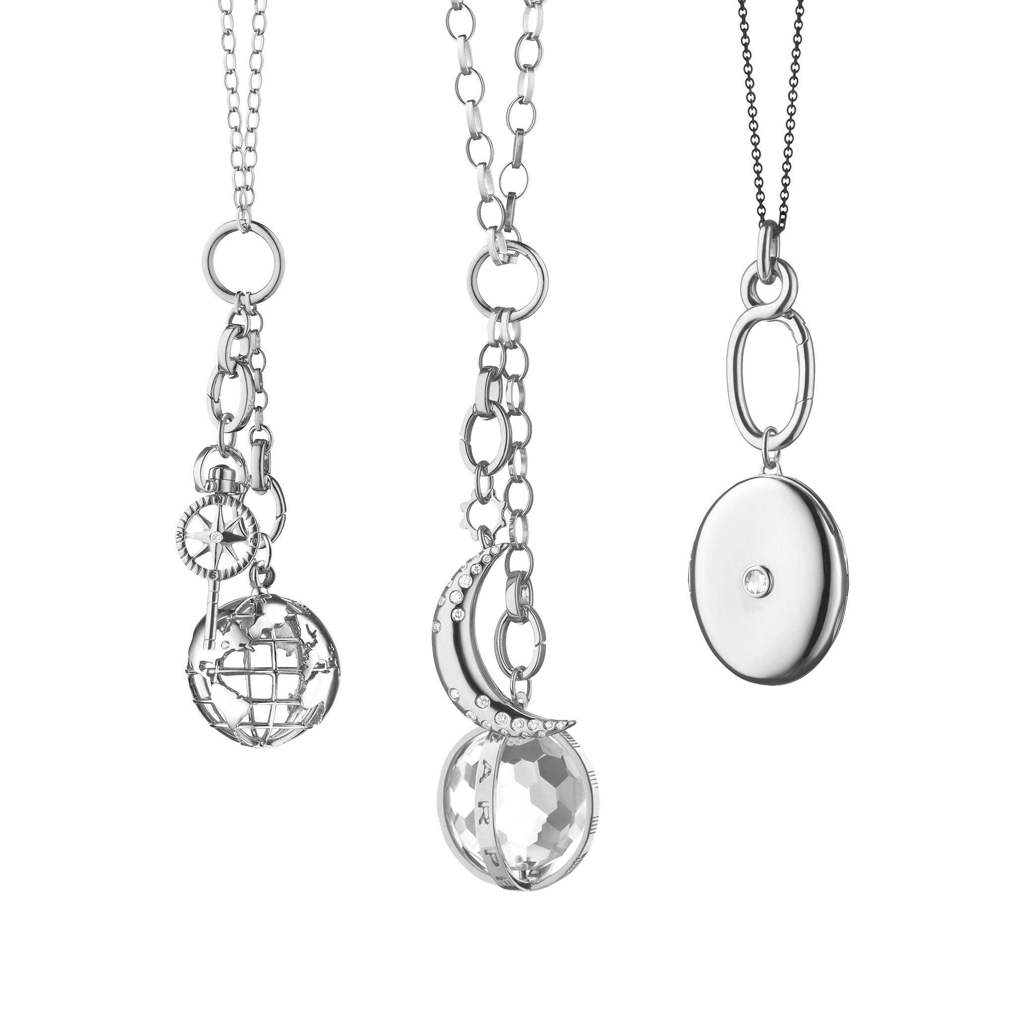 design your own charm necklace in sterling silver
