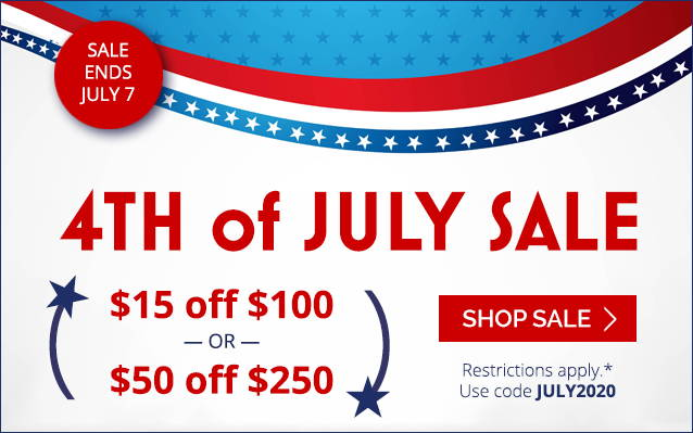 4th of July Sale feature