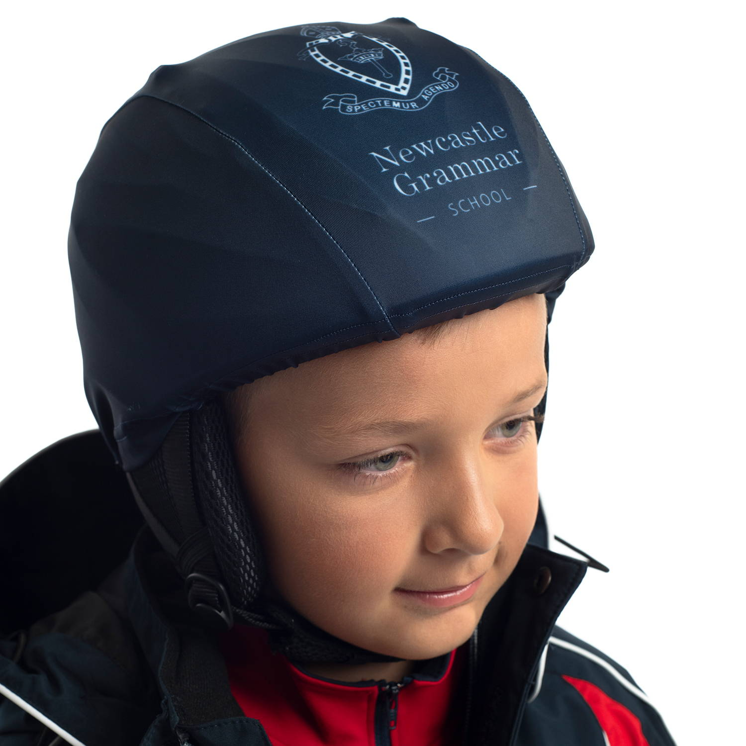Custom Ski Helmet Cover for Newcastle Grammar by Valour Sport