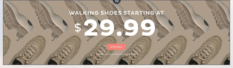 Walking Shoes at $29.99
