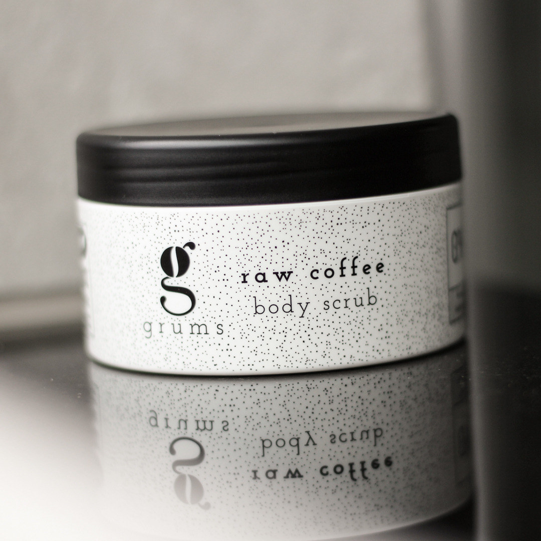 Natural and allergy friendly coffee body scrub