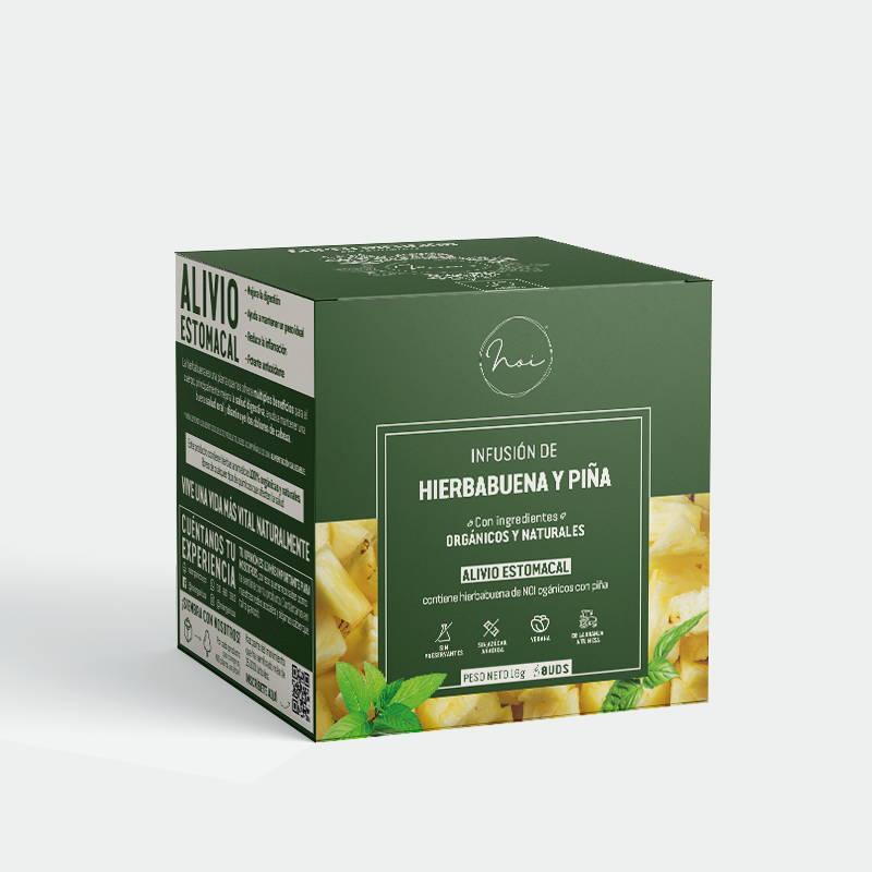 caja infusion hierbabuena y pina alivio estomacal