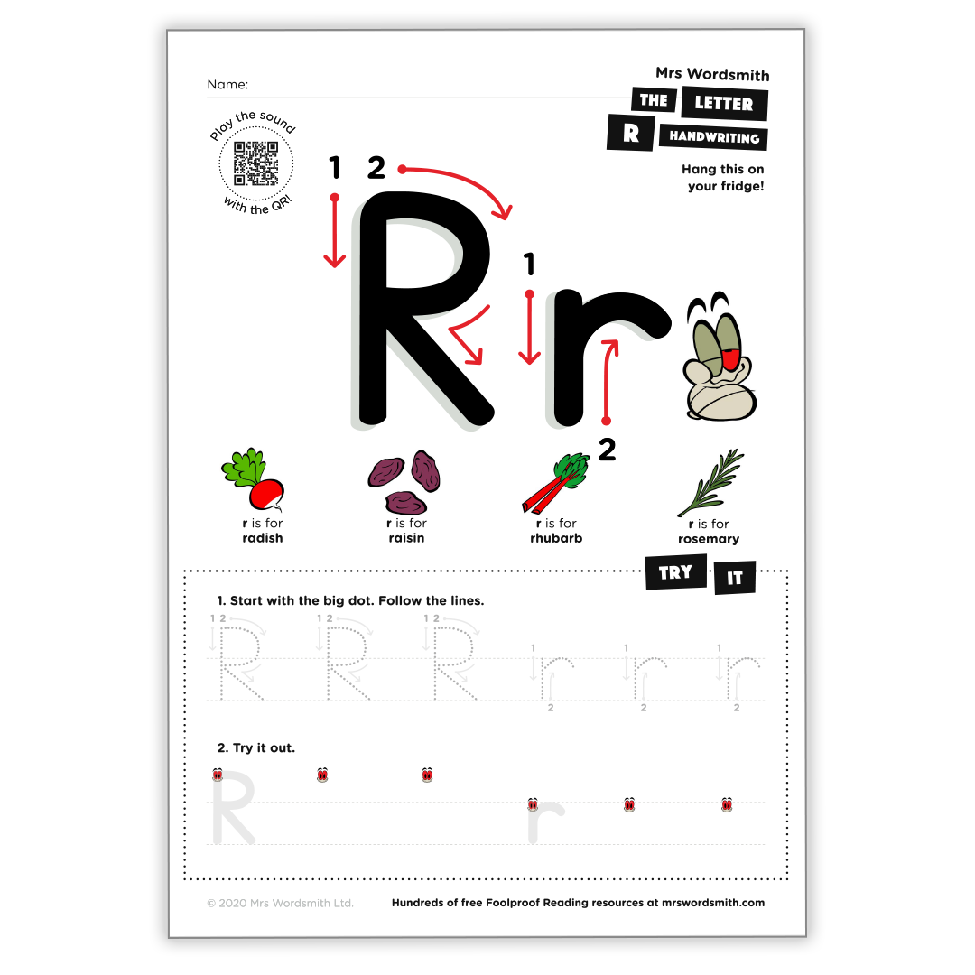 Letter r activity