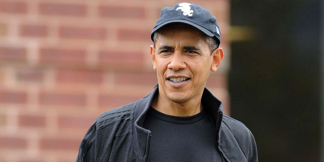 Barack Obama wearing cap