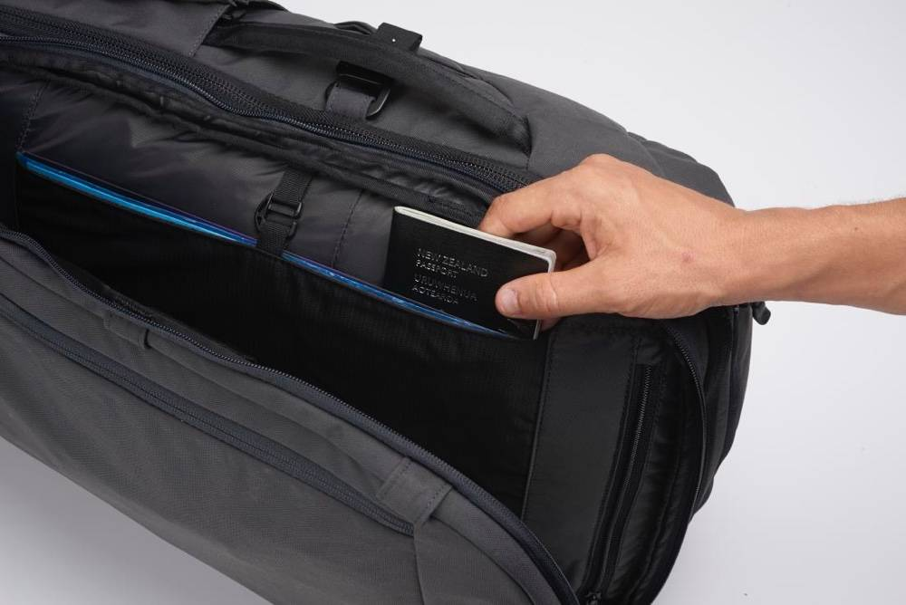 Minaal Carry-on 2.0 - The best bestpack for carry-on travel, with passport protection.