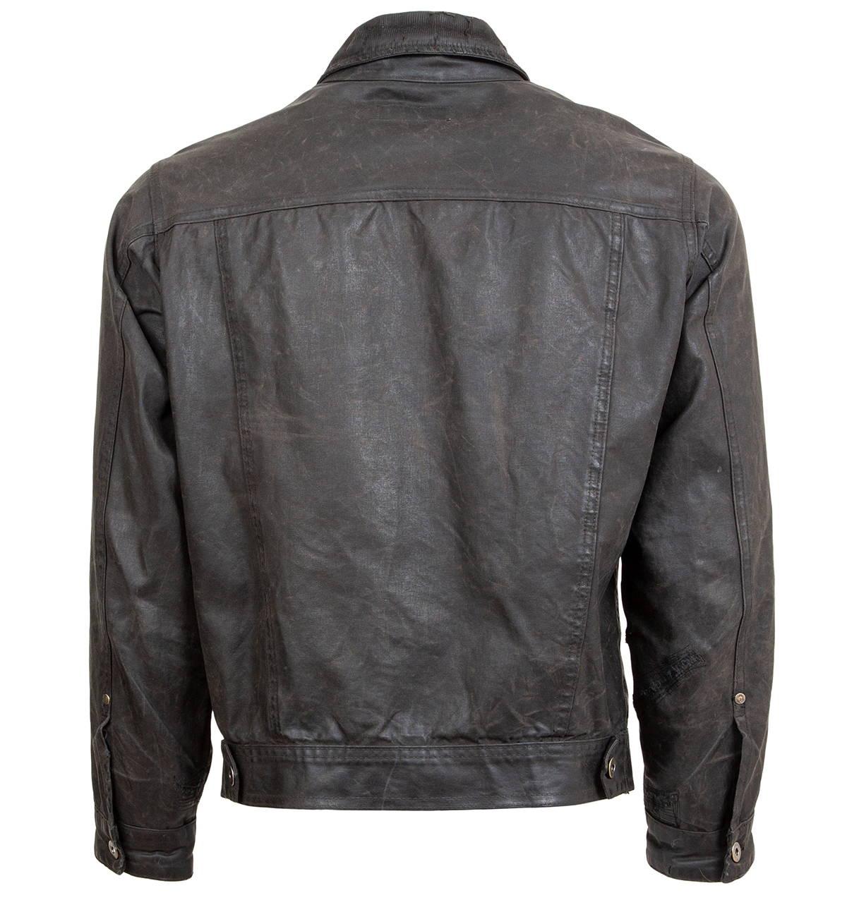 Iron & Resin Rambler Jacket Weathered & Worn Repaired Backside