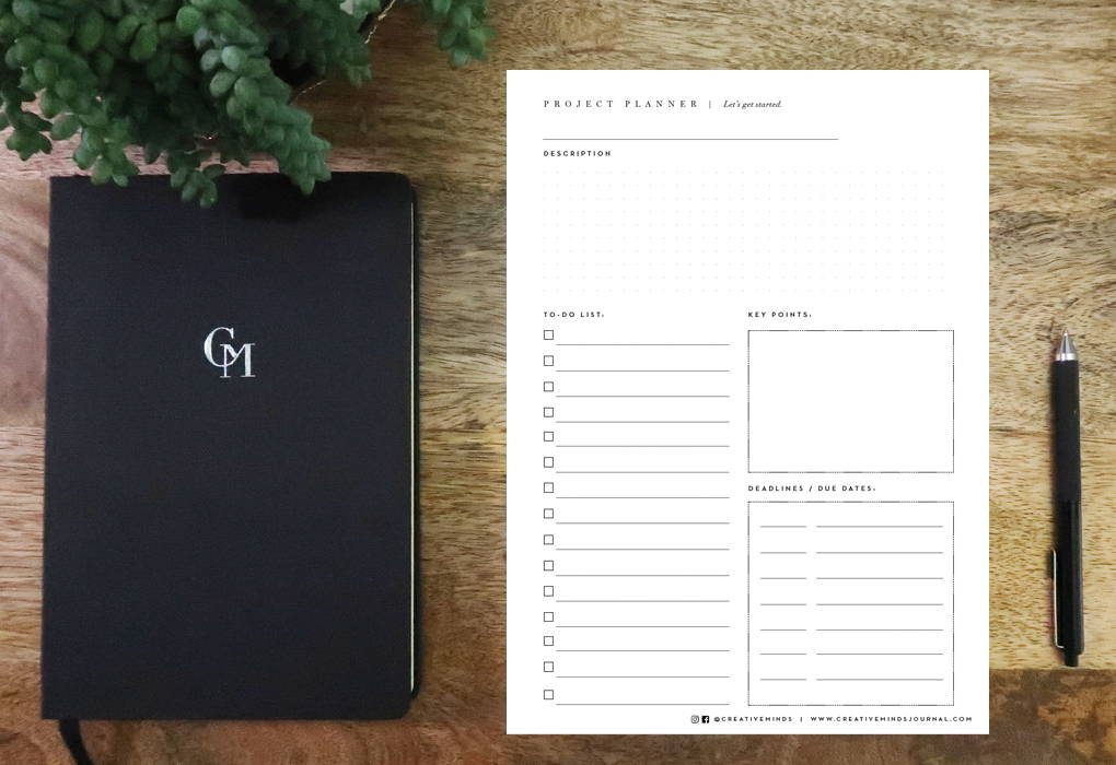 Download the creative minds journal project planner