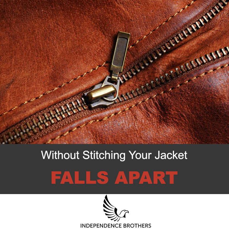 Leather jacket stitching
