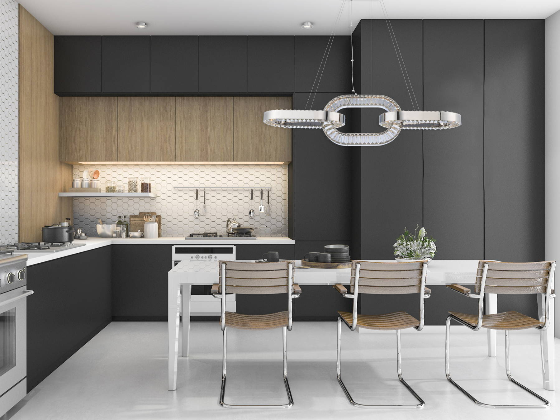 Catena Collection Allegri Crystal Kitchen Lighting