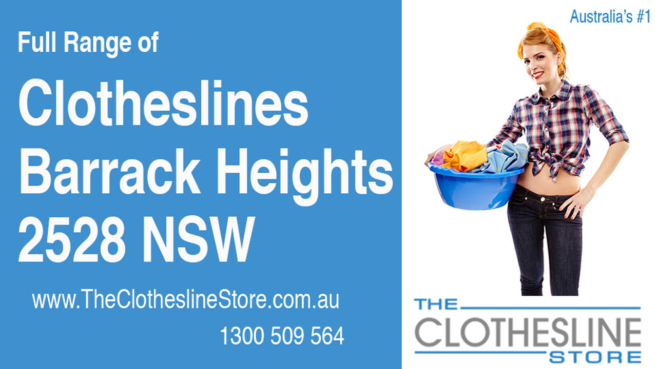 New Clotheslines in Barrack Heights 2528 NSW