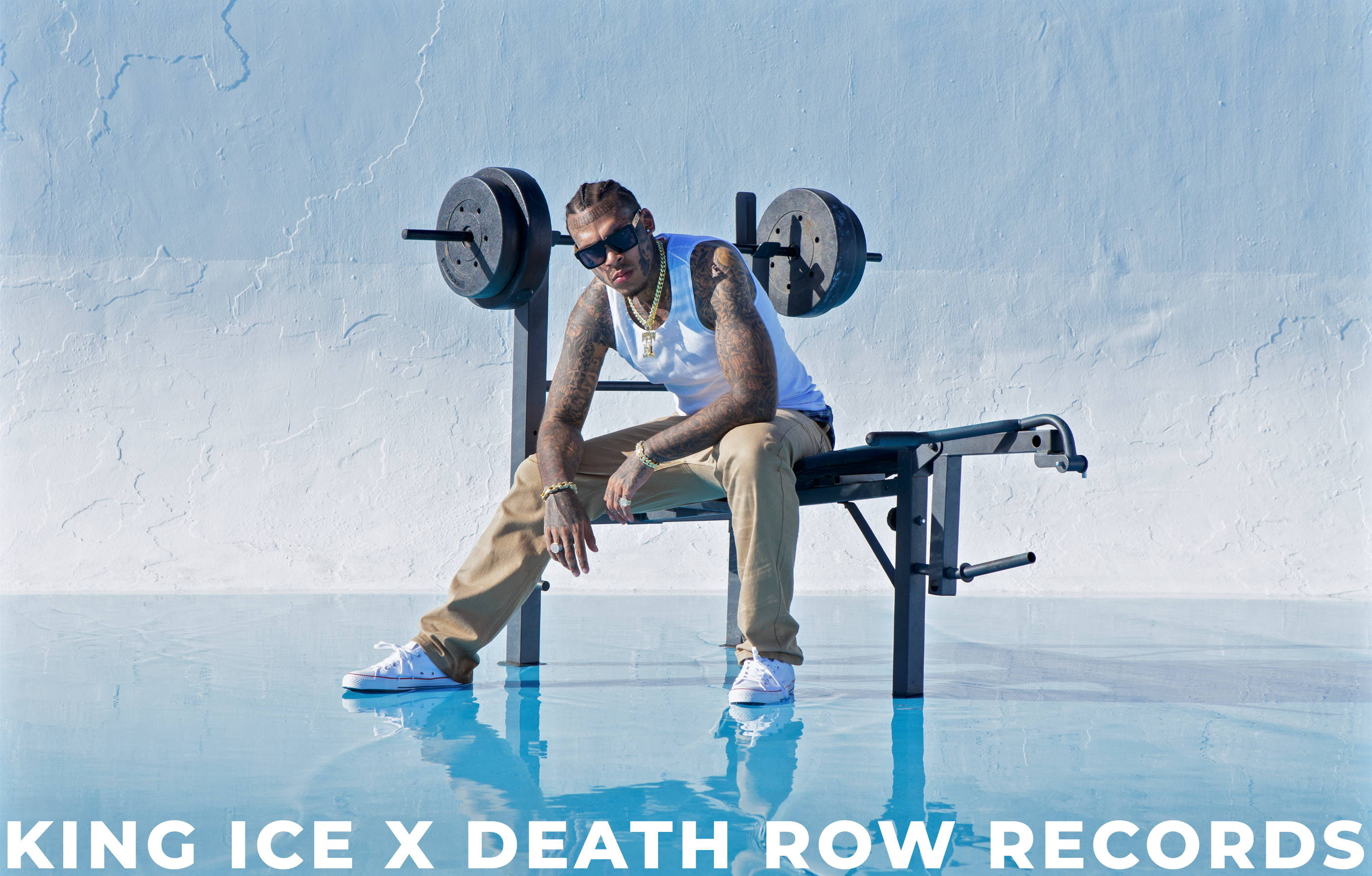 Ink Monster model the official King Ice X Death Row Records collaboration collection.