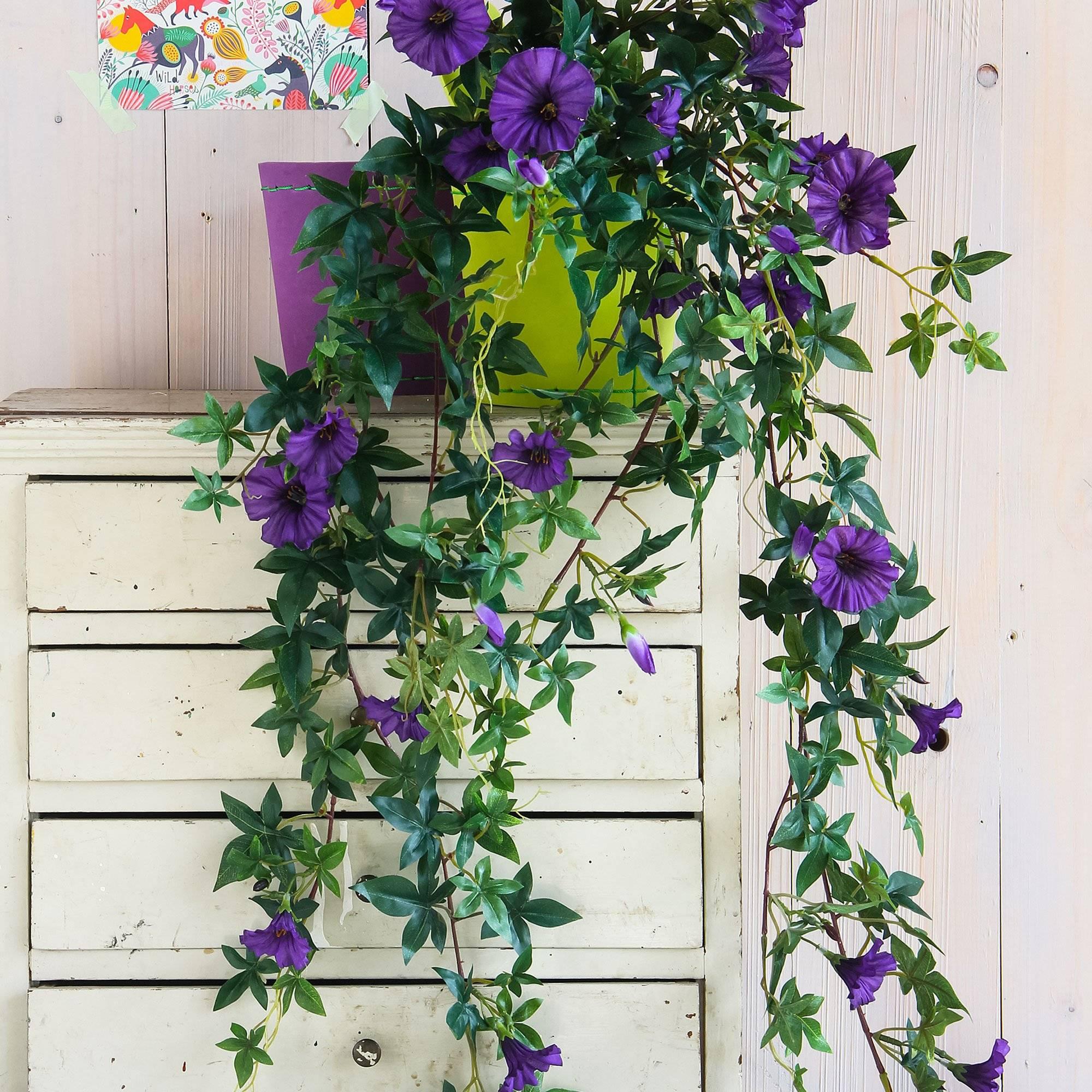 Mica Kunstplant Petunia paars