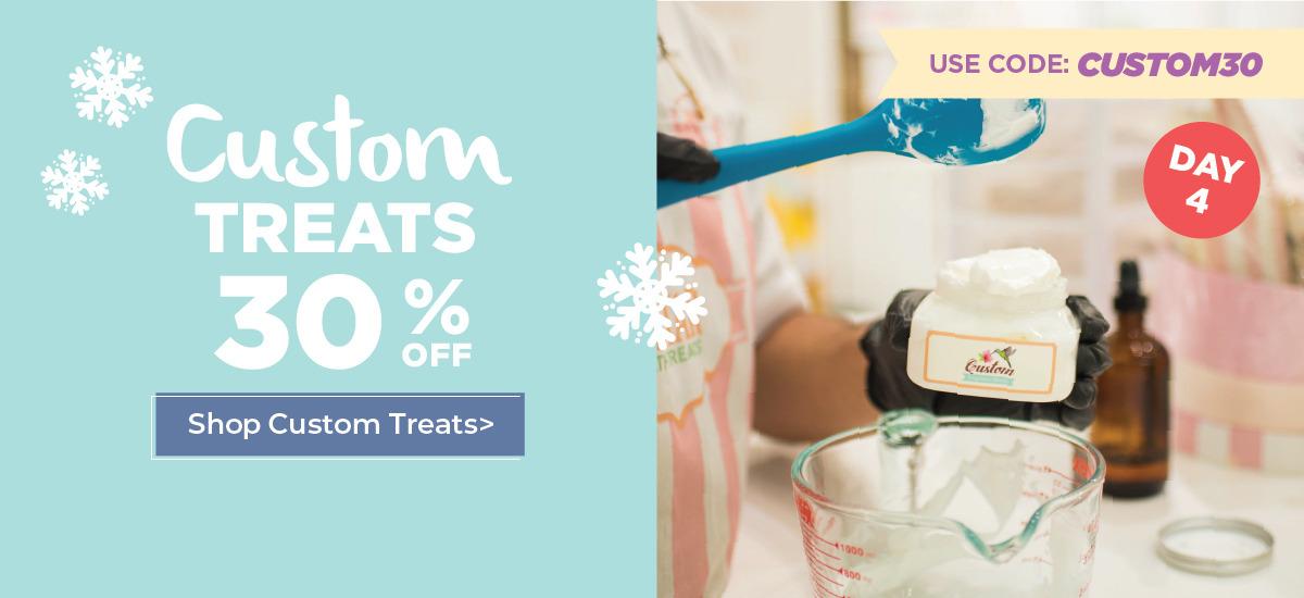 30% off custom treats