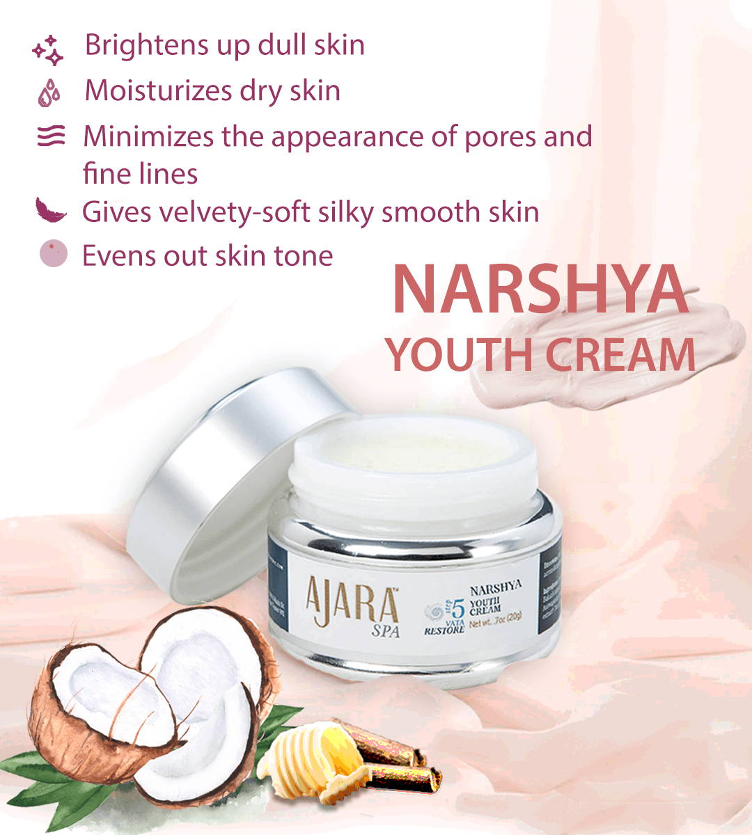 Benefits of 5 products in 1 with Narshya Youth Cream