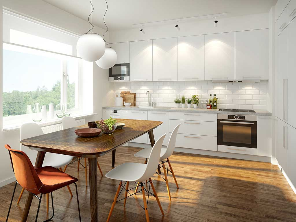 Apartment sized flat pack kitchens online at The Blue Space in Sydney