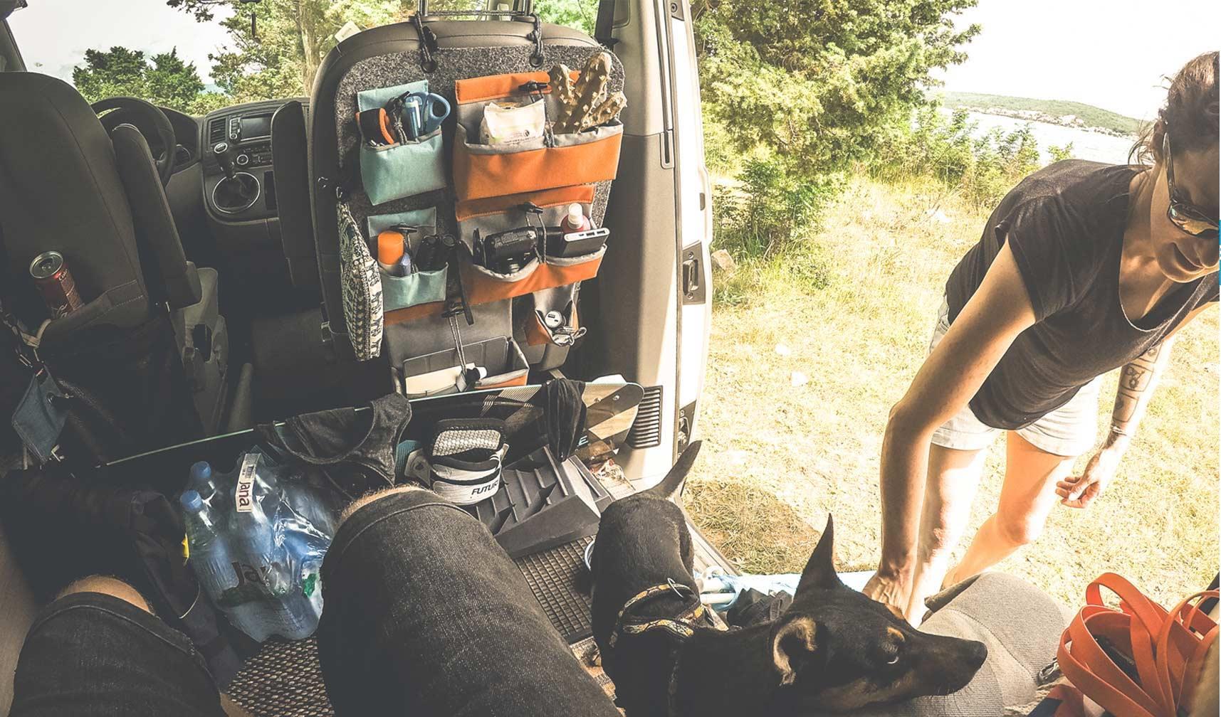 Vanlife in Kroatien - Vantale Crew mit Hund Issi