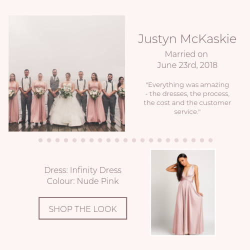 pink infinity dress bridal party real wedding