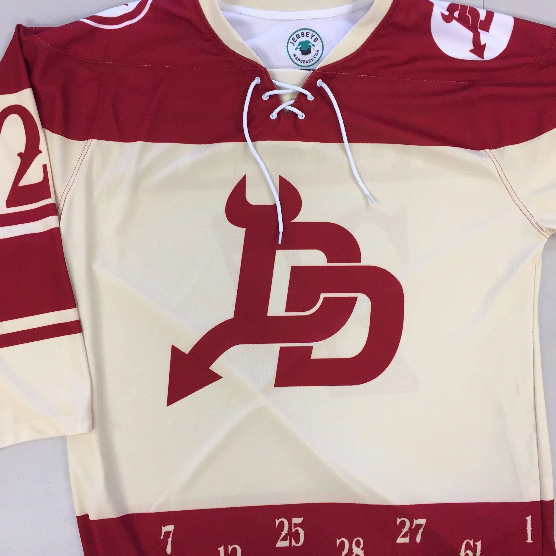 Custom Sublimated Ice Hockey Jersey: Devils