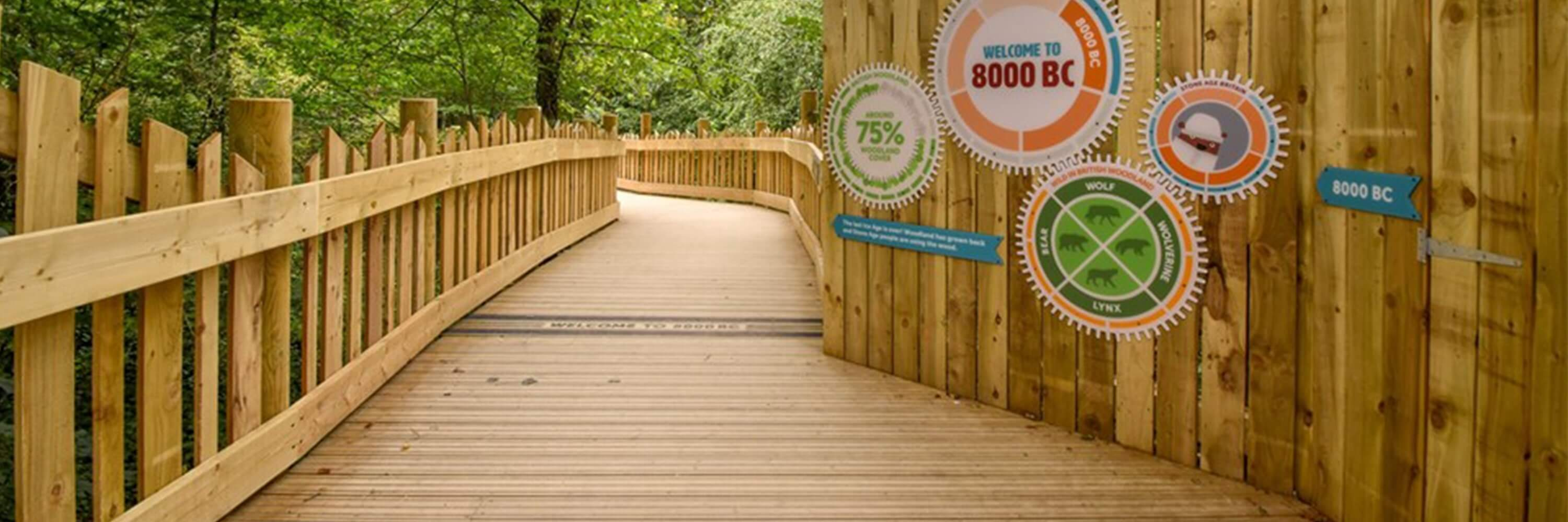 Custom Decking Graphics At Visitor Attraction