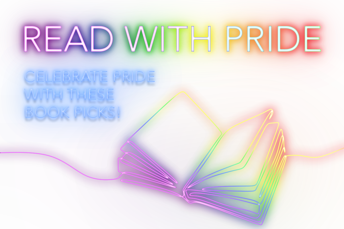Read with Pride; Celebrate Pride with these book picks! Neon Sign effect