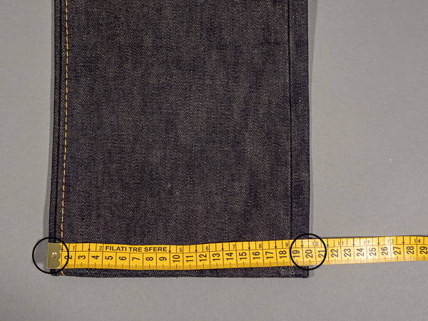 how to measure a jeans hem