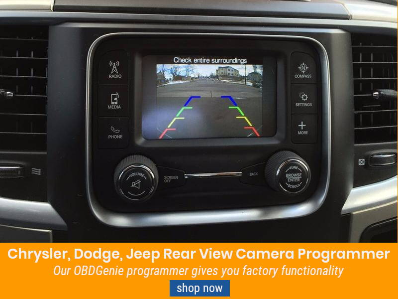 CHRYSLER DODGE JEEP REAR VIEW CAMERA PROGRAMMER C-RVC