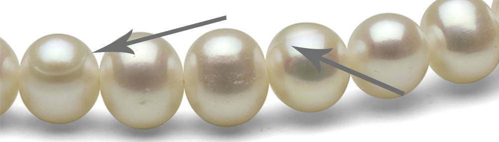 Freshwater Pearl Inclusion Types: Ridges