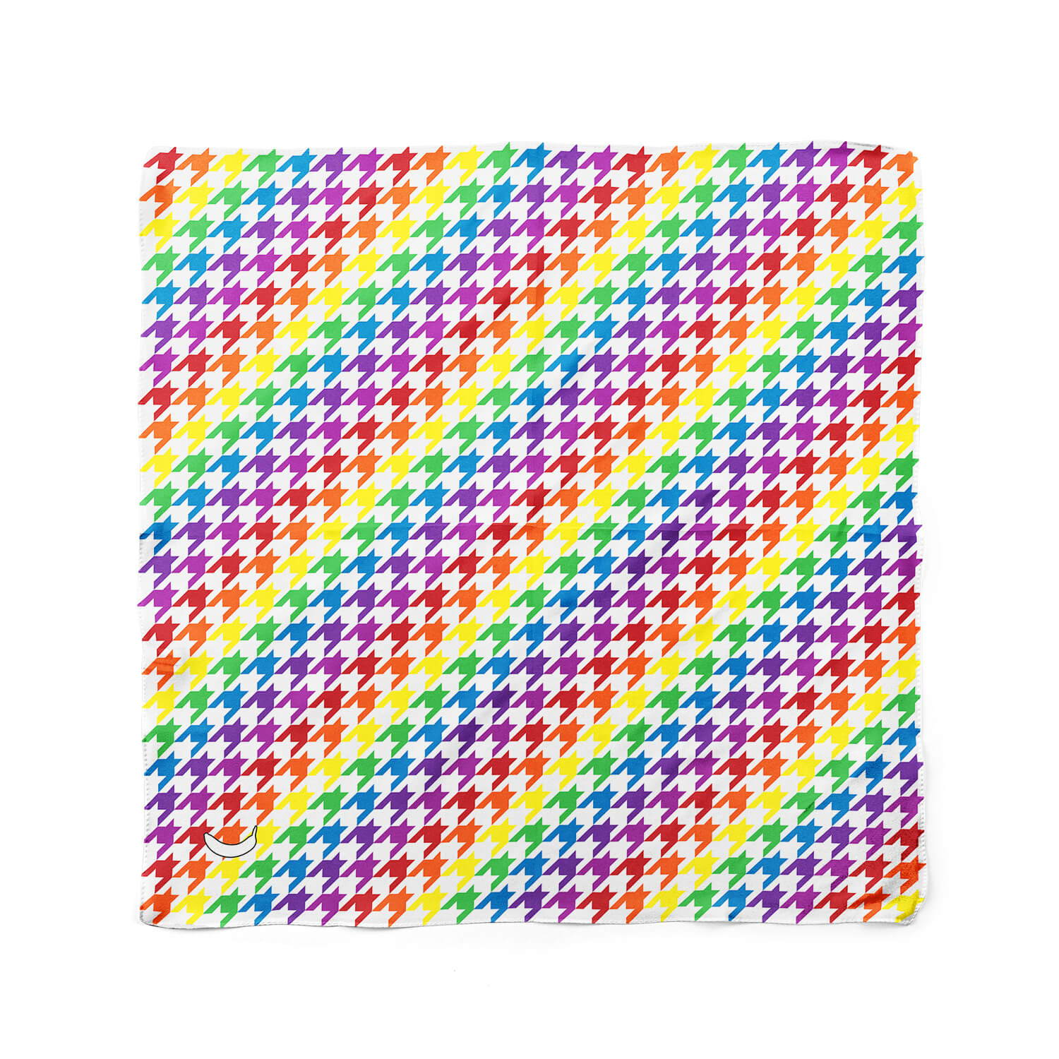 Banana Bandanas colorful dog bandanas Rainbow Houndstooth dog bandana