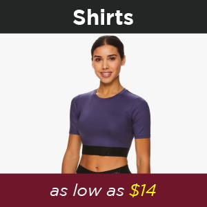 Shop Avia Vanessa Hudgens Shirts at 30% off. Perfect activewear for lounging and working out. Great gift for family and friends for the holidays, inspired by Vanessa Hudgens, created by Vanessa hudgens.  Black Holiday special deals, 30% off