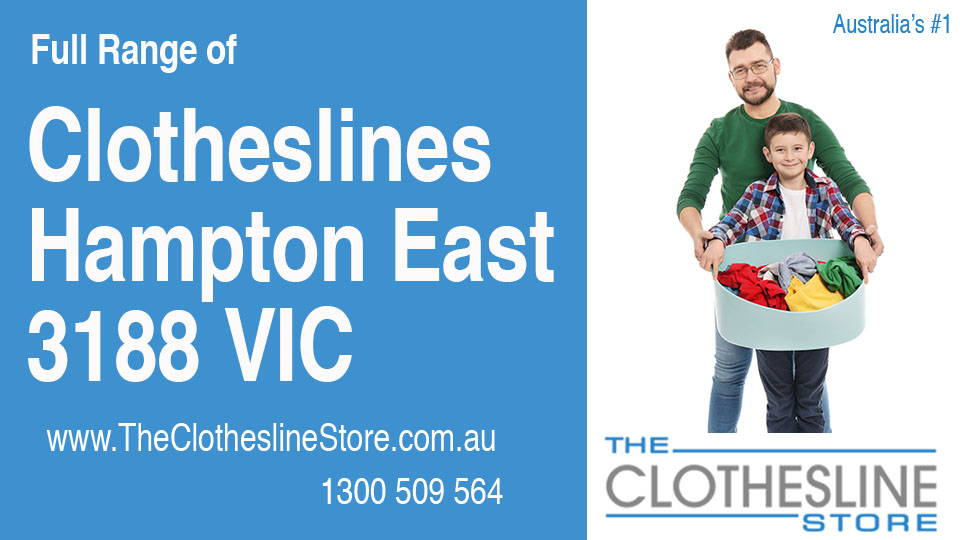 New Clotheslines in Hampton East Victoria 3188