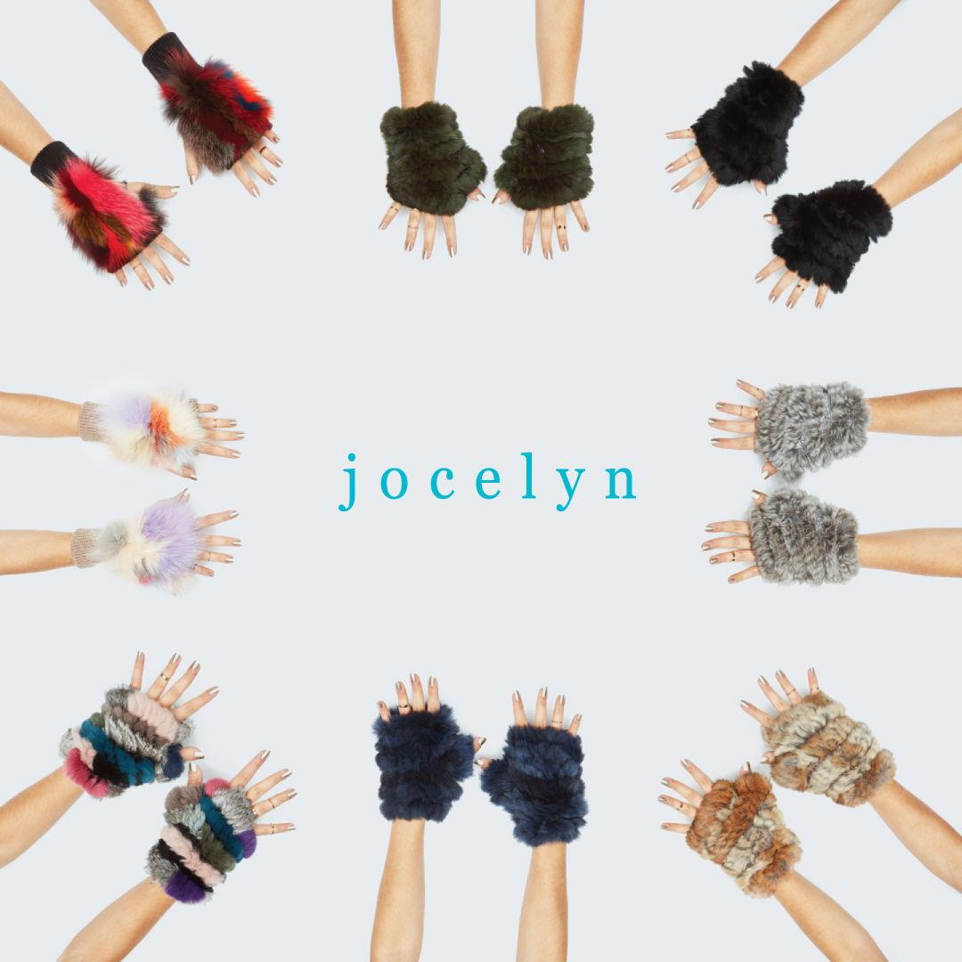 Jocelyn fur mittens are SO cute!