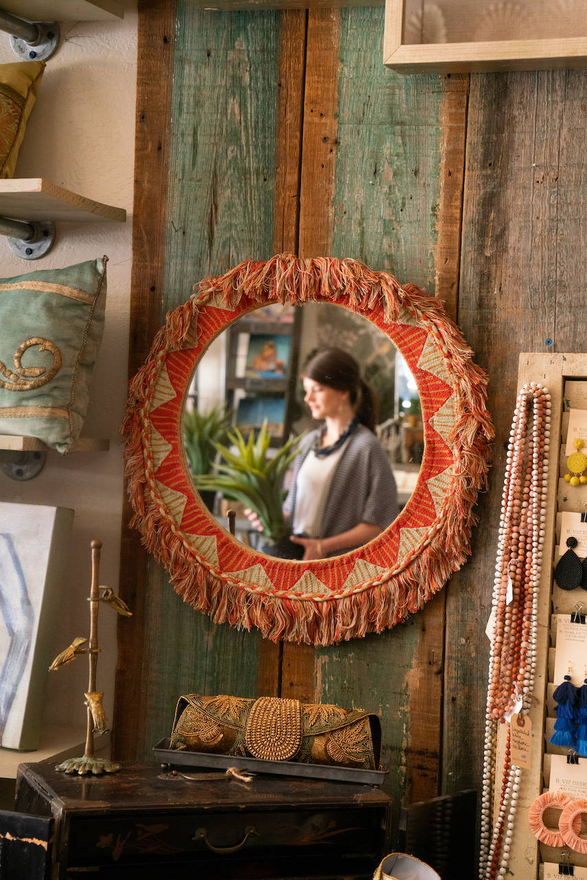 Inside B. Viz Design Global Headquarters you will find one-of-a-kind treasures like B. Viz Design pillows, vintage & antique textiles, home accessories, gifts, clothing and more!