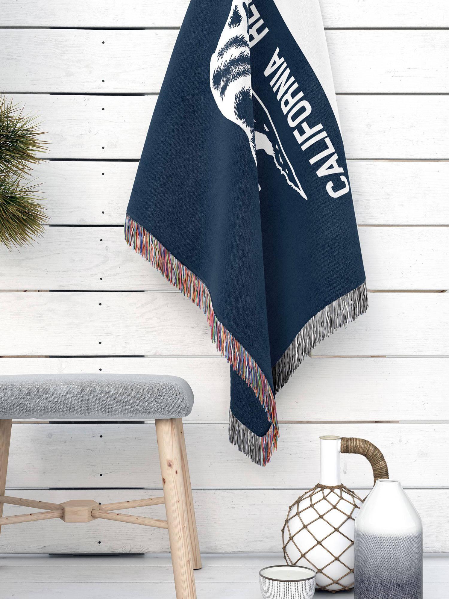 modern blanket of california state flag