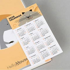 Comes with calendar card - Chachap 2020 Hello mouse dated monthly planner scheduler