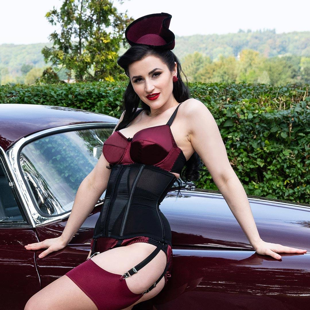adda75b3a Vintage Inspired Lingerie Collection in Deep Red Claret Satin – What ...
