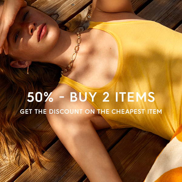 Buy 2 items and get 50% off the cheapest item