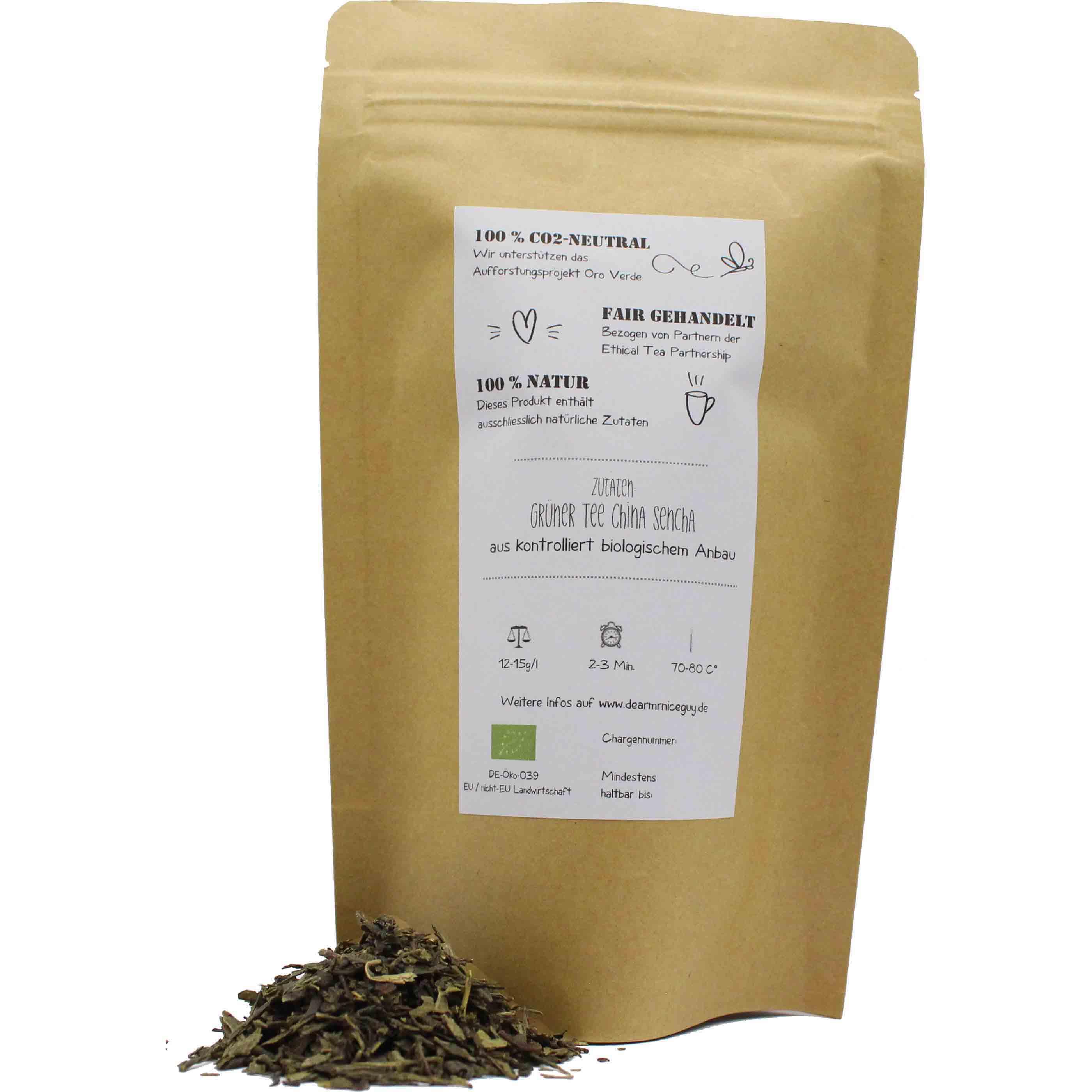 Verpackung 75g Grüner Bio Tee Sencha