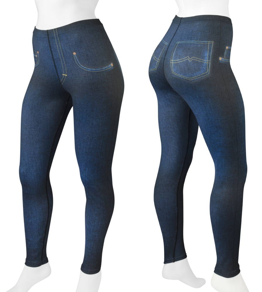Faux Denim cycling tights