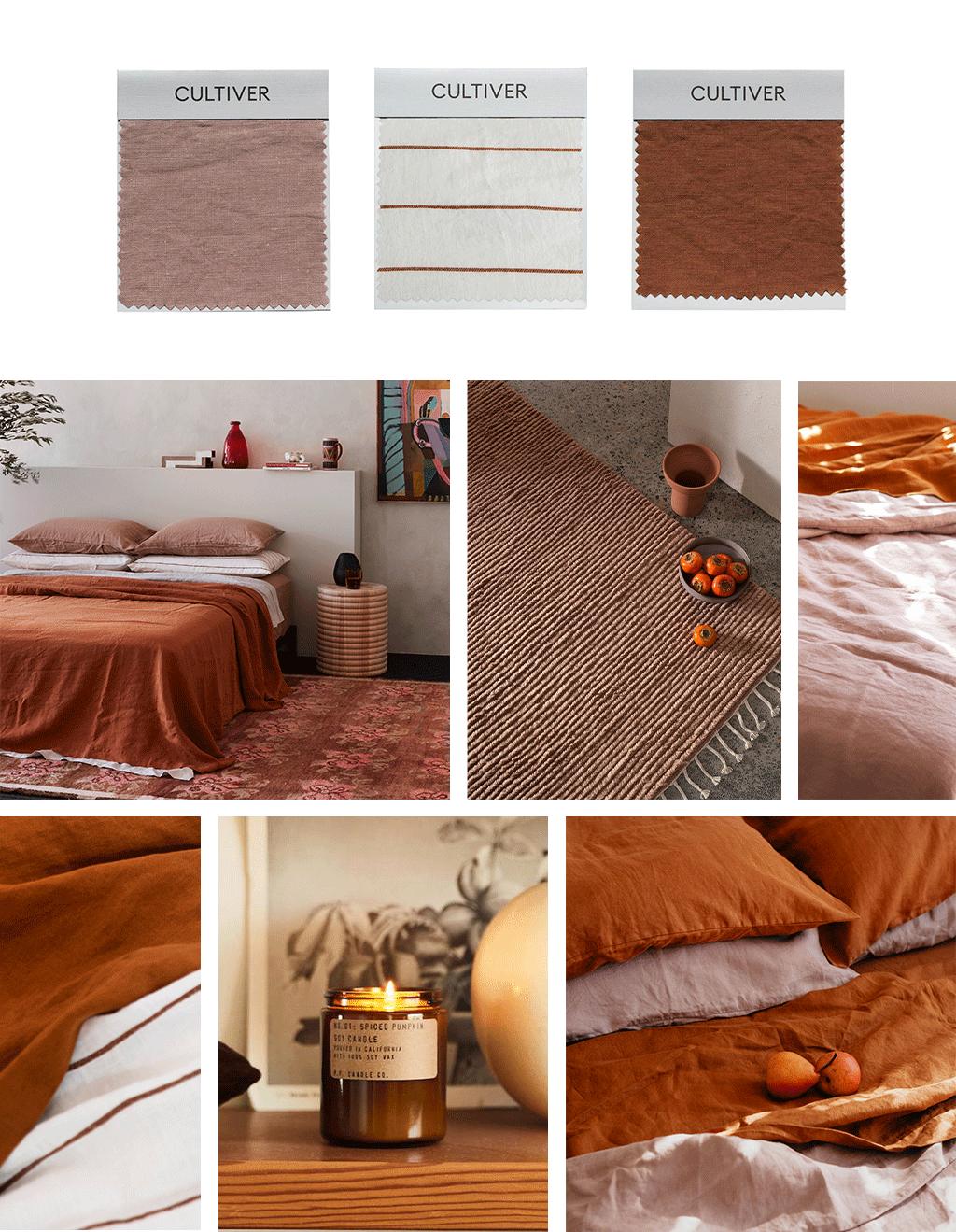 Colour Palette: Dusk, Cedar Stripe and Cedar