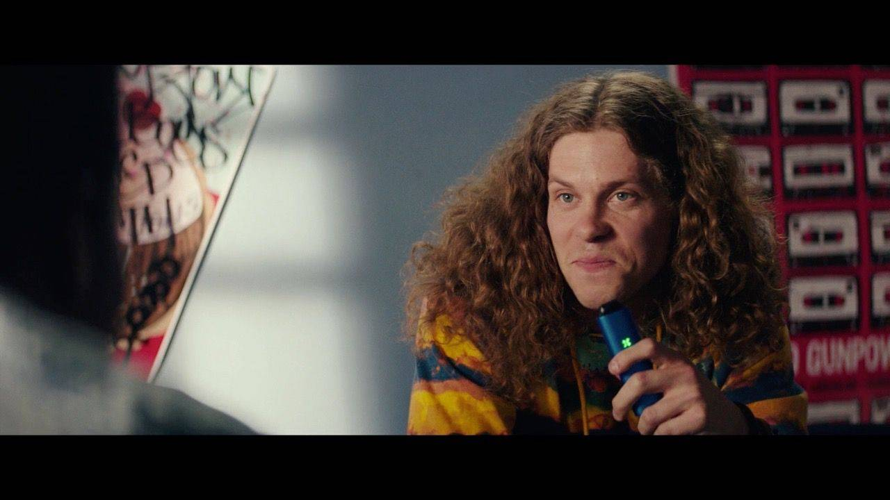 Carrot Top Blake Anderson smoking a PAX 3 in the movie Dope
