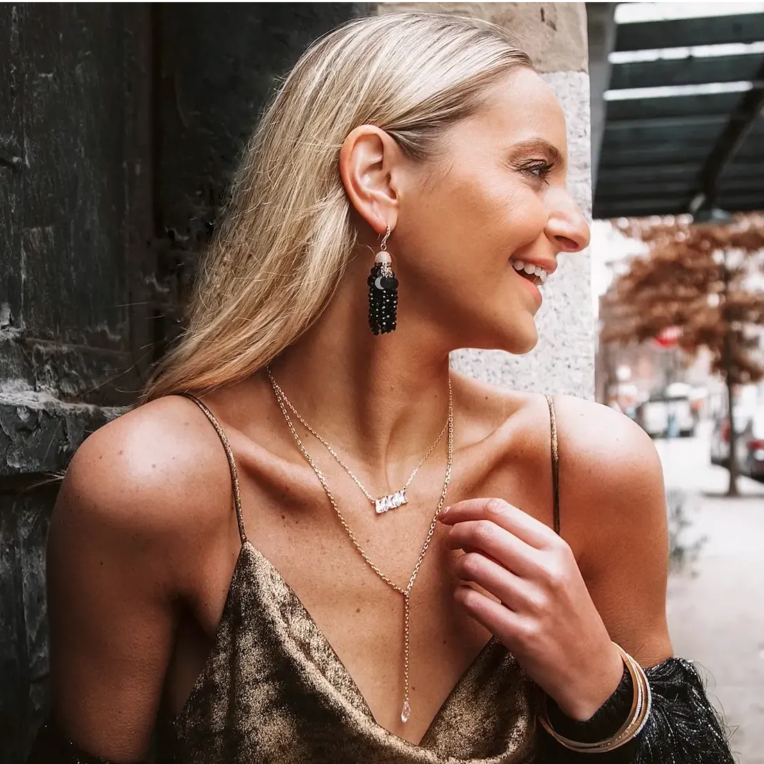 Jackie Miranne in ZAXI Necklace