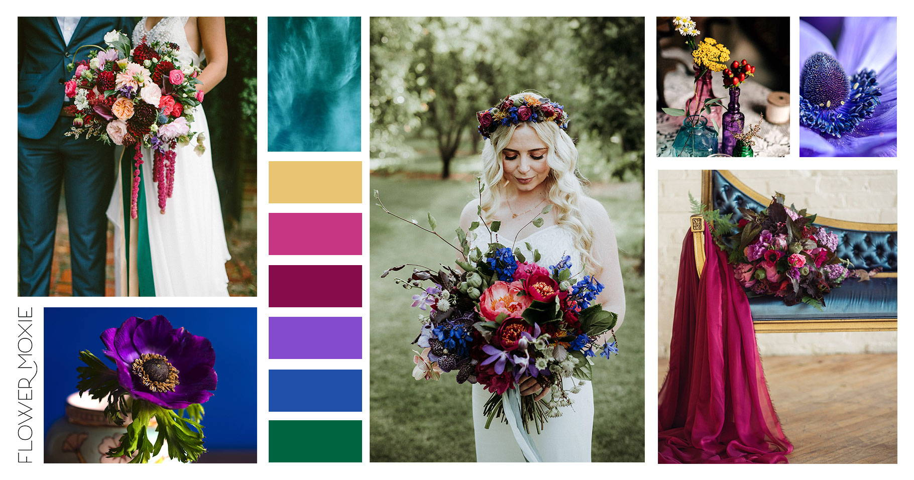 jewel tone wedding flowers