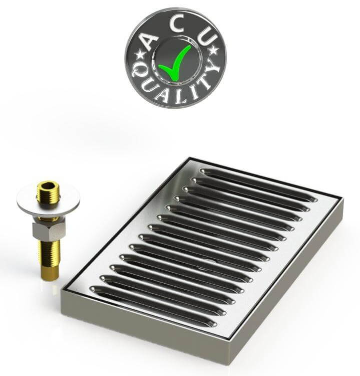 Surface Mount Drip Tray with Drain