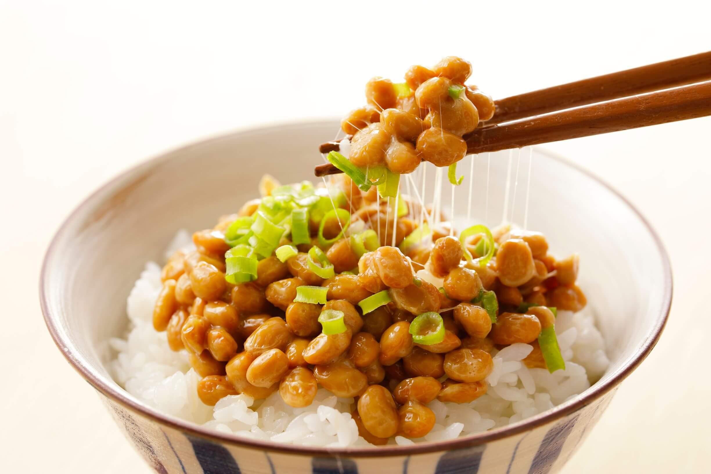 natto over rice
