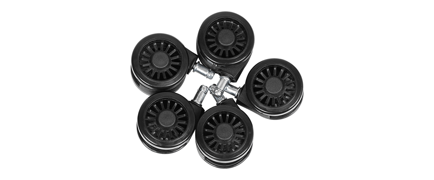 Durable PU covered 65mm king size wheels