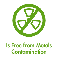 Free from Metals Contamination