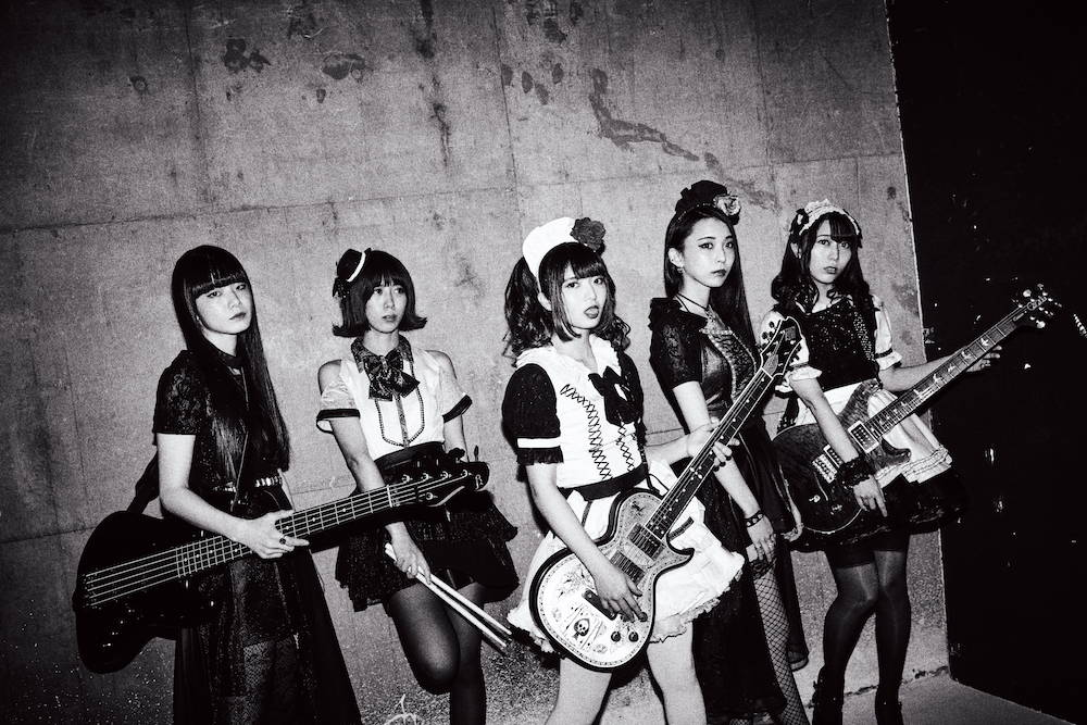 BAND-MAID band with instruments
