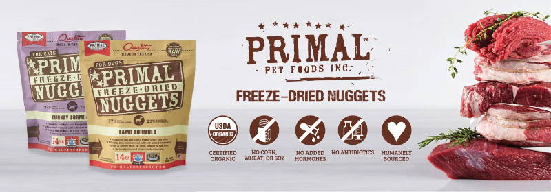 primal freeze dried raw dog food and raw cat food collection