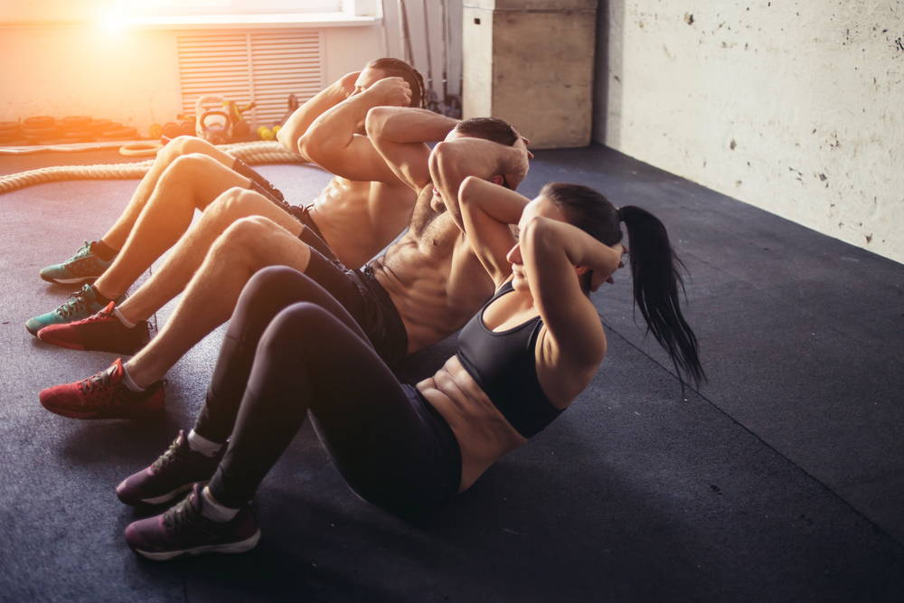people exercising together|exercise for a healthy gut