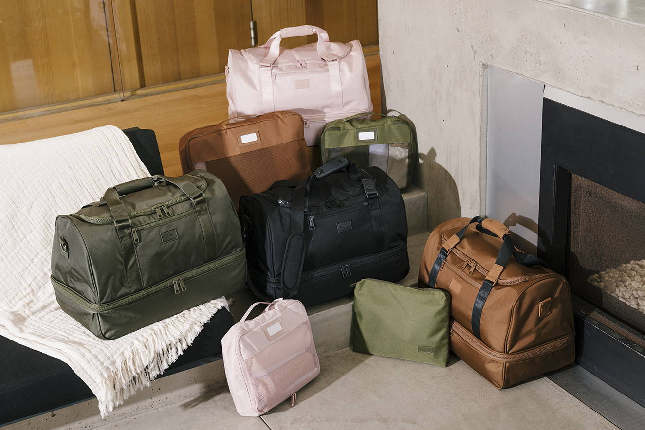 Stevyn Duffel and Packing Cubes in various colors